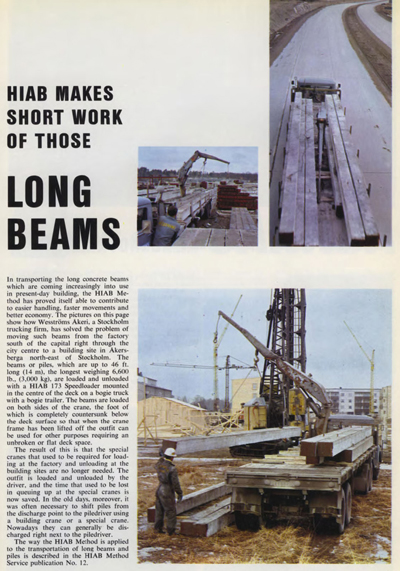 Looking Back at HIAB – Making Short Work of Long Beams