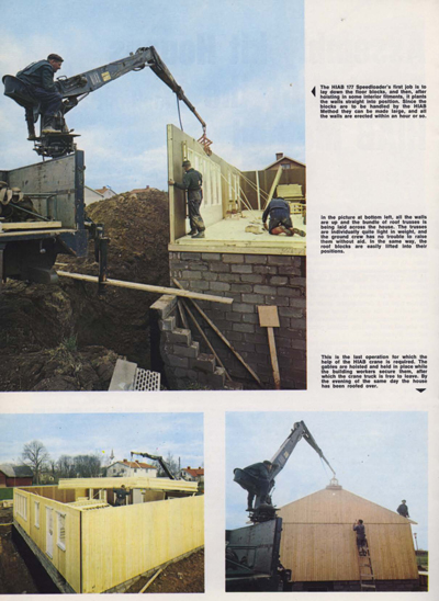 Assembly Kit Houses Erected by HIAB Method