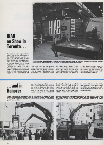 HIAB On Show in Toronto in 1967