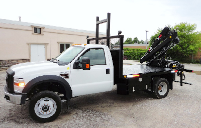 New HIAB 055-2 CLX with Ford F550 XL 4x4 Truck