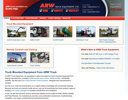 New ARW Truck Equipment Website Launched