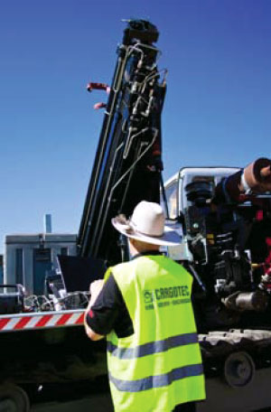 HIAB in the gas and mining industries in Australia