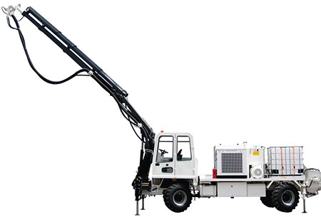 HIAB and Titan wet shotcreate machines