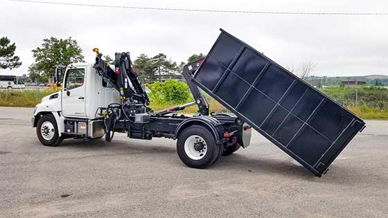 HIAB 088 B-3 CLX Crane and Multilift XR7N on Hino 338 Truck - SOLD