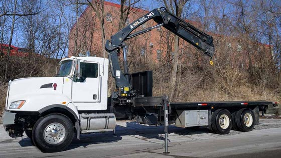 HIAB 211EP-5 CLX Crane on Kenworth Truck - SOLD