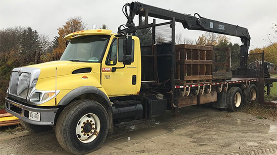 HIAB 235K-2 Crane and 2006 International Truck Package - SOLD