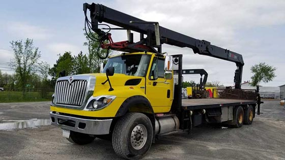 255K Crane and 2012 International Truck Package for Sale