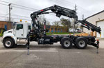 HIAB 288E-5+Jib 70x4 HiPro Crane and Multilift XR10.51 on Kenworth Truck for Sale