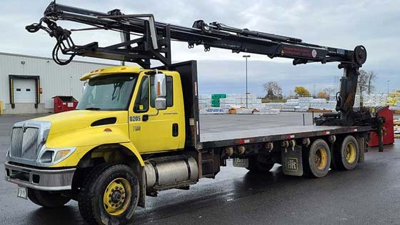 HIAB 288EP-5 CL Crane on International Truck for Sale