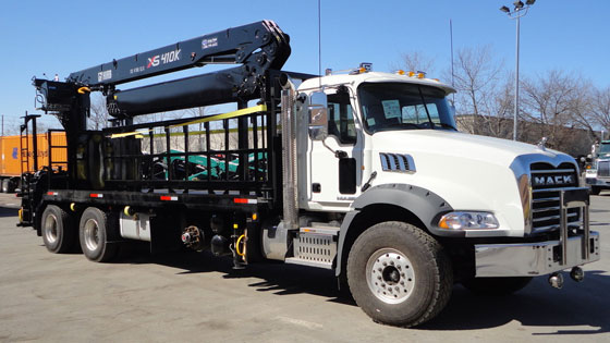 HIAB 410K Pro Crane and Mack Truck Package - SOLD