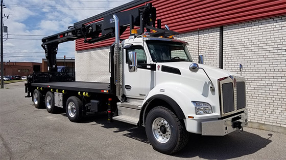 HIAB 435K-4 HiPro Crane and Kenworth T880 Truck Package - SOLD