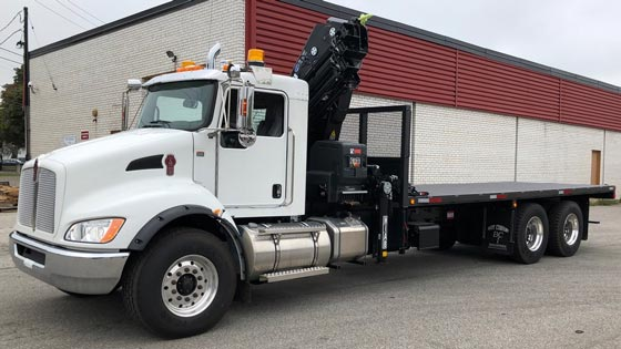 HIAB X-HiDuo 258E-5 Crane and Kenworth T370 Truck Package for Sale