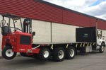 Moffett M8 55.3-10 Forklift and Internationl Truck For Sale