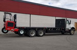 Moffett M8 55.3-10 Forklift and International Truck - SOLD