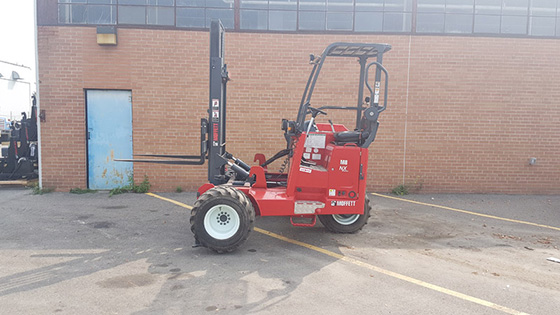 Moffett M8 55.3-10 NX Forklift with Mounting Hooks For Sale