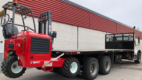 Moffett M8 55.3-10NX Forklift and Freightliner Truck - SOLD