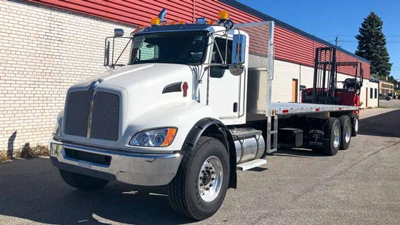 Moffett M8 55.3-10NX Forklift and Kenworth Truck - SOLD